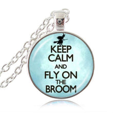 "Load image into Gallery viewer, ""Keep Calm and Write On"" Pendant, Writer's Necklace"