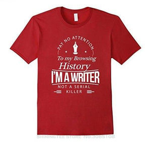 Summer Men's Clothing Writers Gift T-shirt