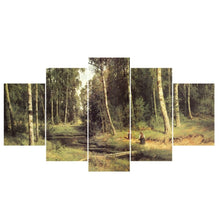 Load image into Gallery viewer, HD Printed 5 Piece Forest/Tower Scenery Landscape Canvas Art Painting Wall Pictures