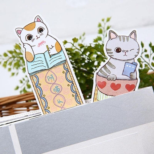 Cute Cat Paper Bookmark Card