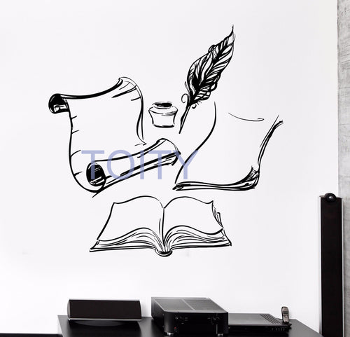 Books Ink Wall Art