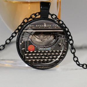 Writer's Typewriter Necklace