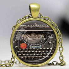 Load image into Gallery viewer, Writer's Typewriter Necklace