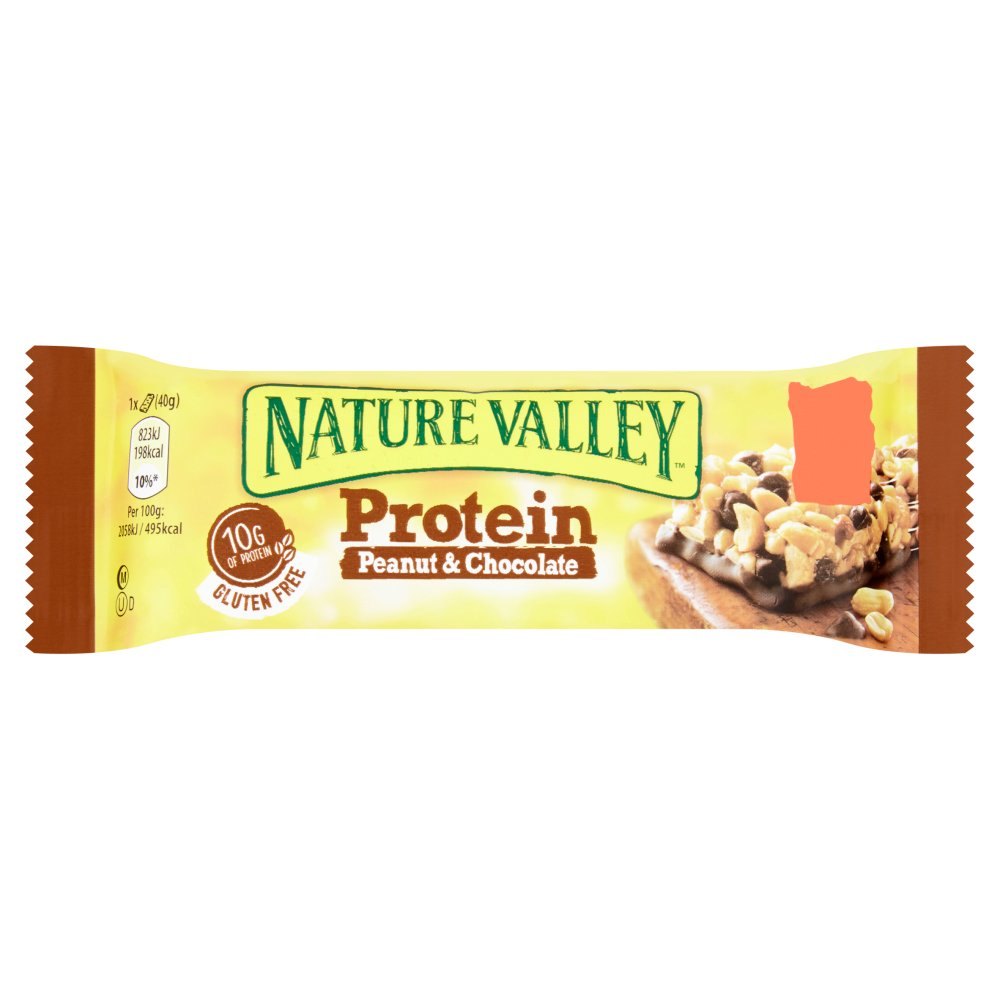 Nature Valley Protein Peanut & Chocolate Cereal Bar, 40g (Box of 12)