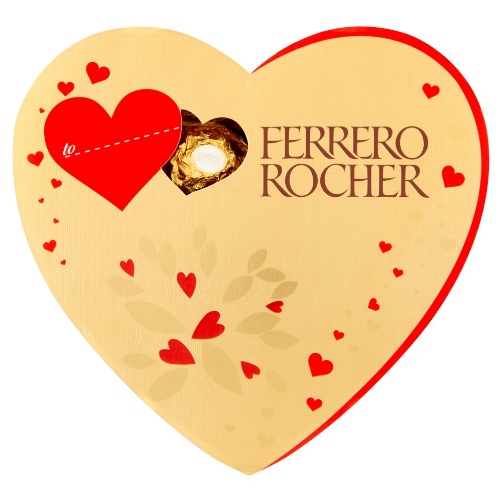 Ferrero Rocher Valentine's Day Heart Shaped Box of Chocolate 10 Pieces, 125g