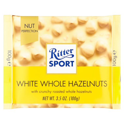 Ritter Sport White Whole Hazelnuts, 100g (Pack of 5)