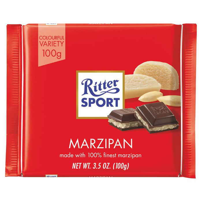 Ritter Sport Marzipan, 100g (Pack of 5)