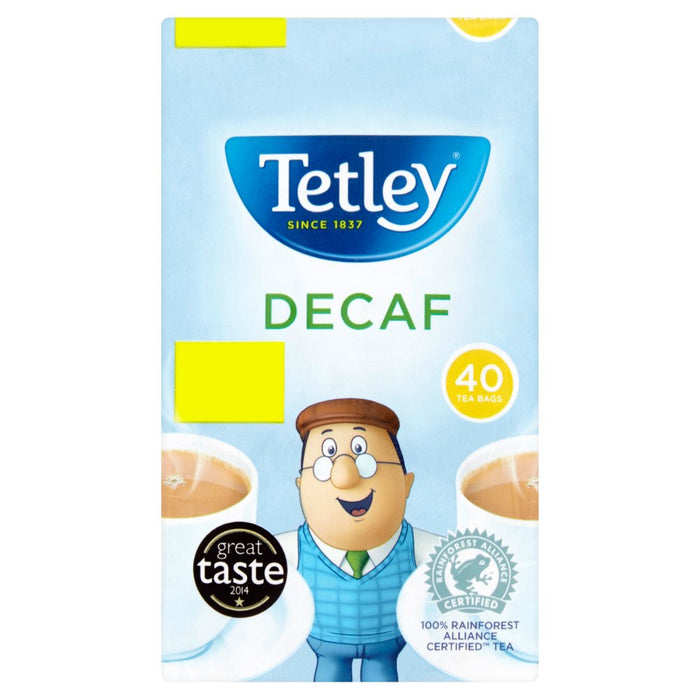 Tetley Decaf 40 Tea Bags 125g (Case of 6)
