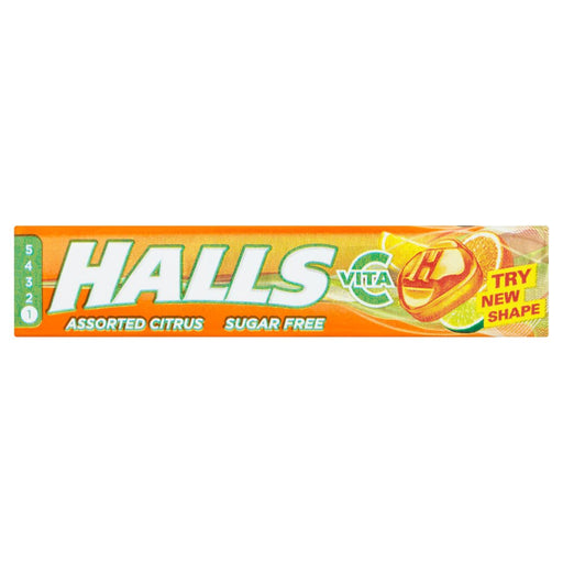 Halls Sugar Free Assorted Citrus, 32g (Box of 20)