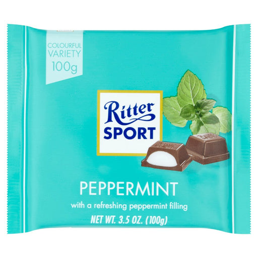 Ritter Sport Peppermint, 100g (Pack of 5)
