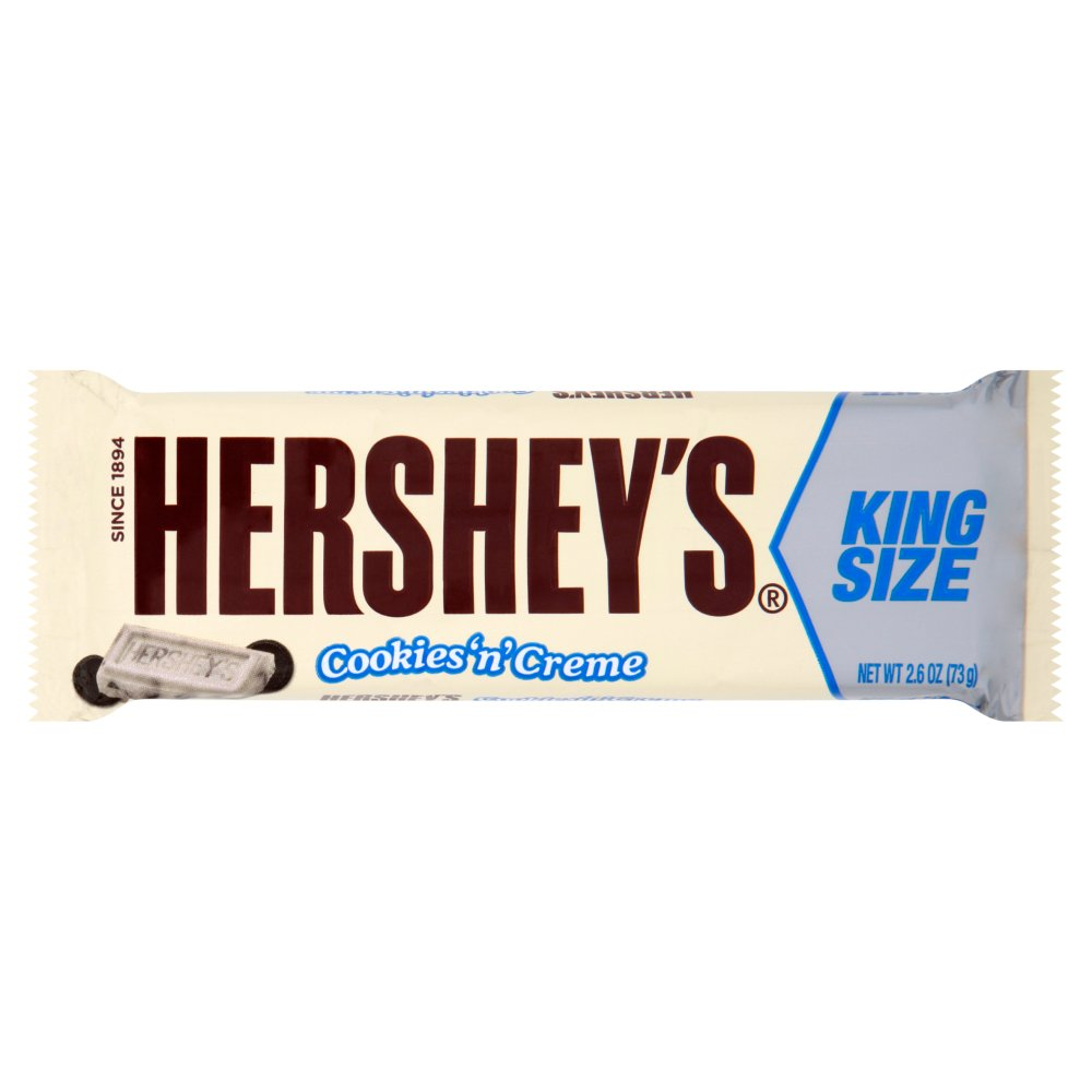 Hershey's Cookies 'n' Creme King Size Bar, 73g (Box of 18)