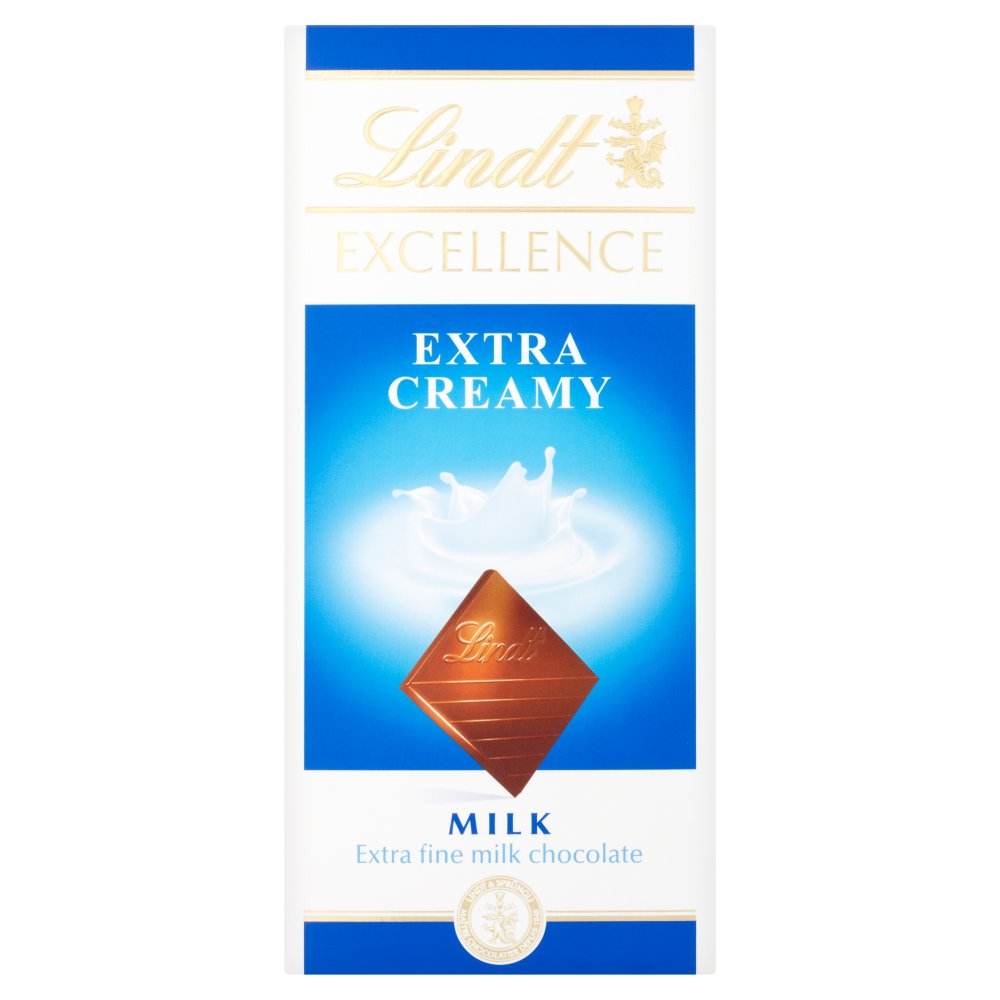 Lindt Excellence Extra Creamy Milk, 100g