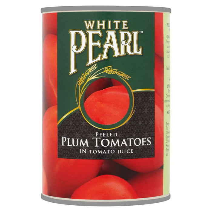 White Pearl Peeled Plum Tomatoes in Tomato Juice, 400g