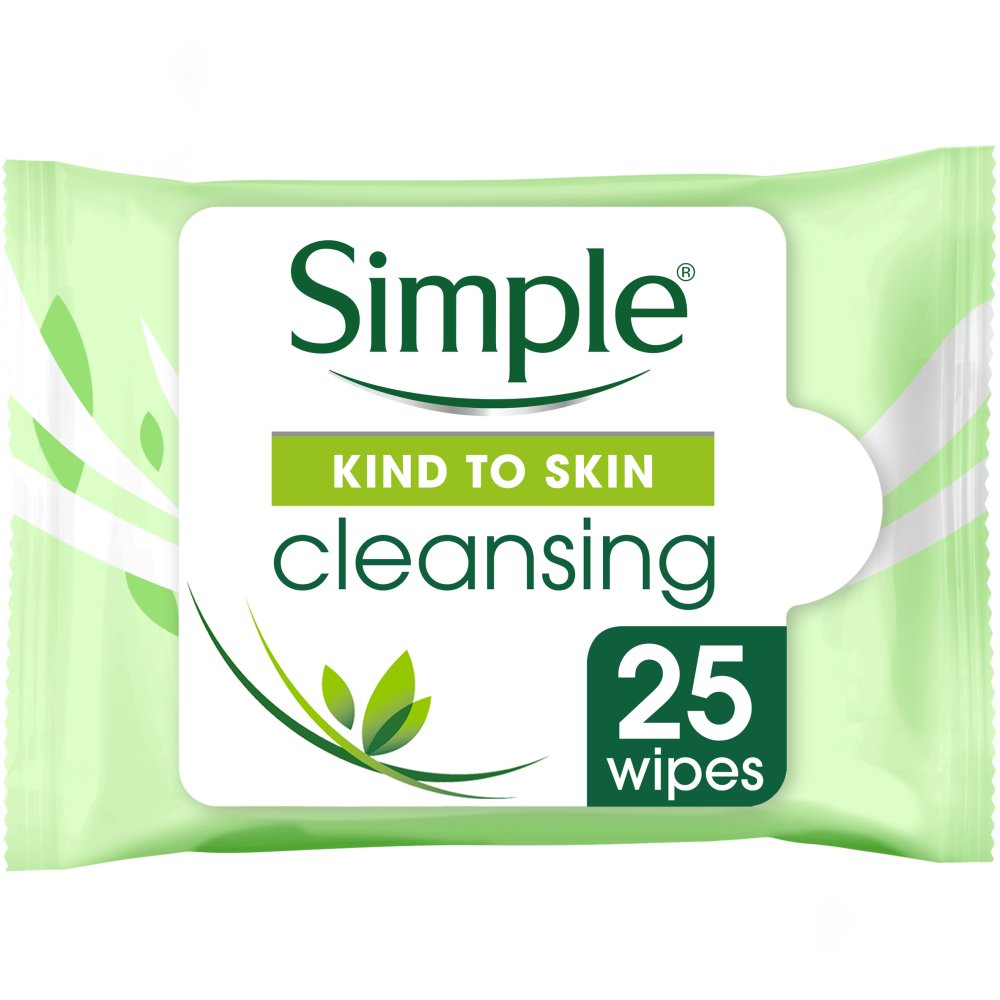 Simple Cleansing Facial 25 Wipes
