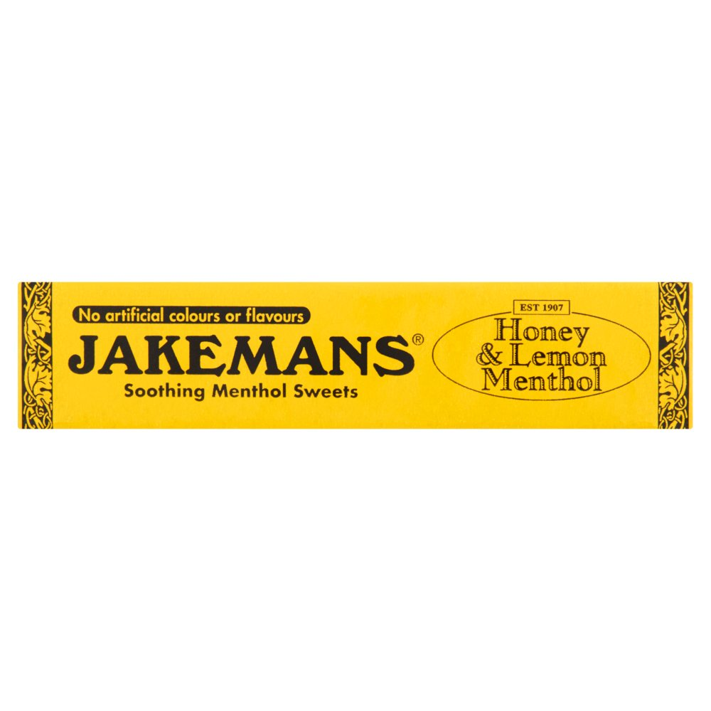 Jakemans Honey & Lemon Menthol Soothing Menthol Sweets, 41g (Pack of 5)