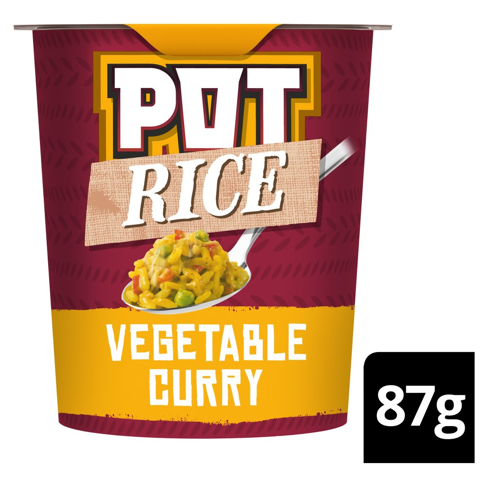Pot Rice Vegetable Curry Snack, 87g (Pack of 8)