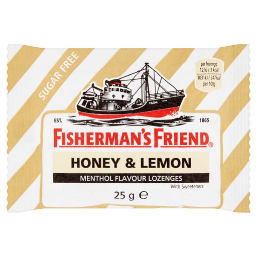Fisherman's Friend Honey & Lemon Lozenges, 25g (Pack of 6)
