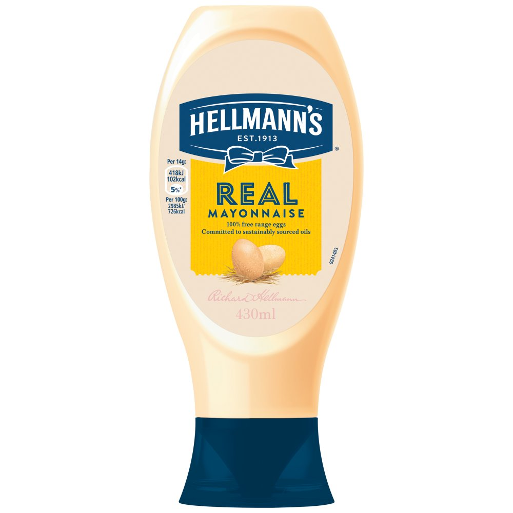 Hellmann's Real Squeezy mayonnaise, 430ml