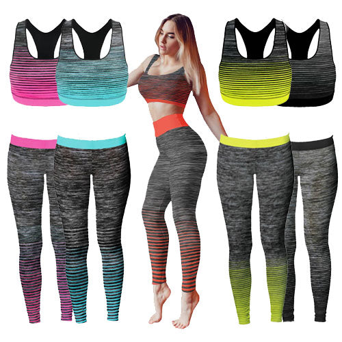 Ladies Crop Top Gym Set