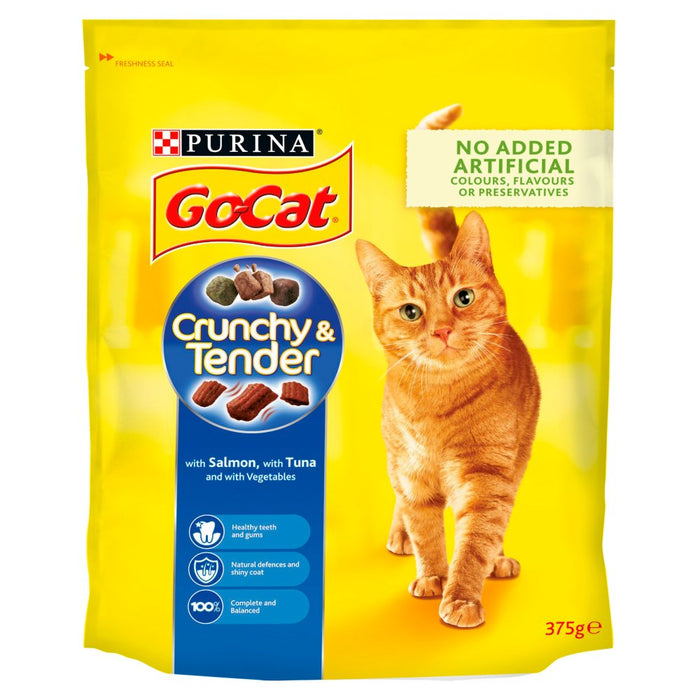 Go Cat Crunchy N Tender Salmon Tuna Veg (Pack of 7)