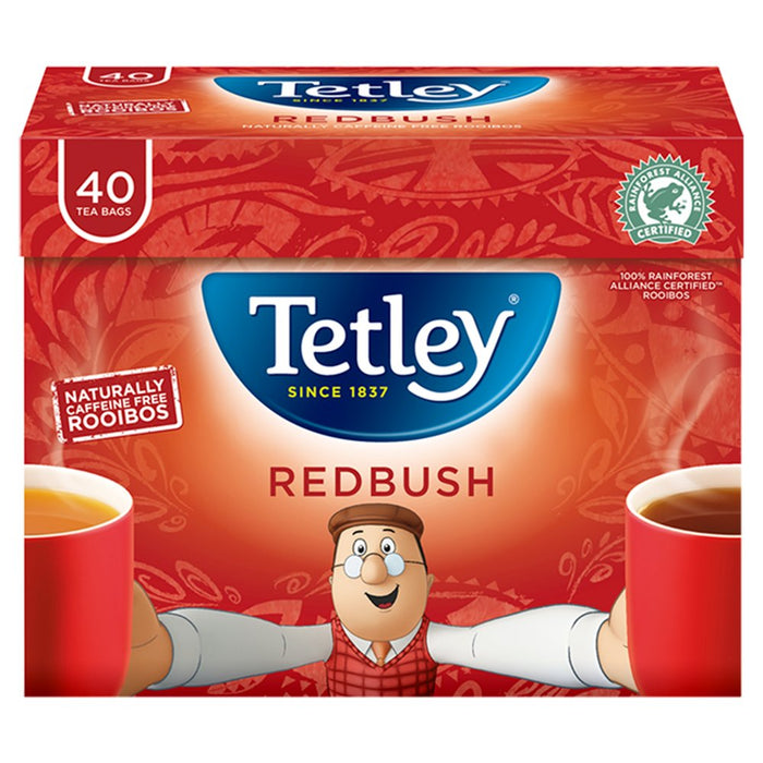 Tetley Redbush 40 Tea Bags (Pack of 6)