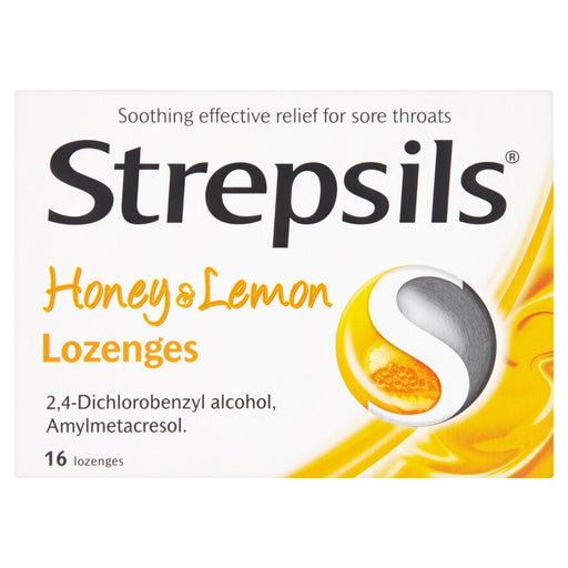 Strepsils Honey & Lemon Lozenges 16 Lozenges
