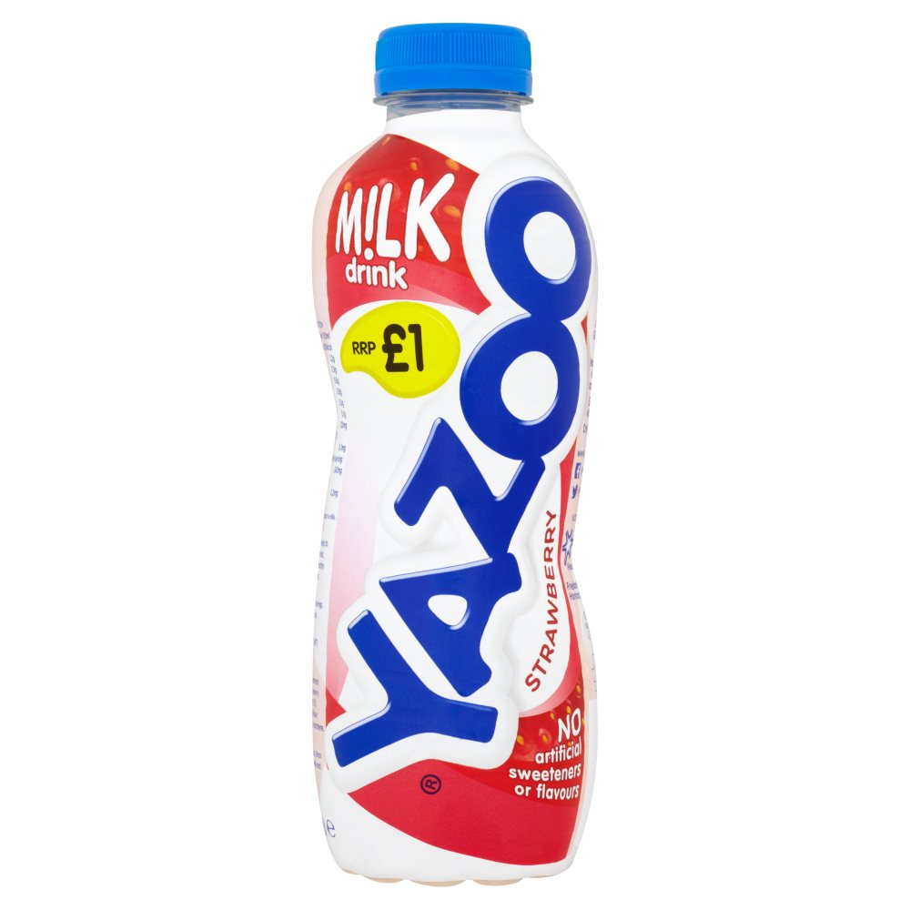 Yazoo Strawberry Milk Drink, 400ml (Pack of 10)