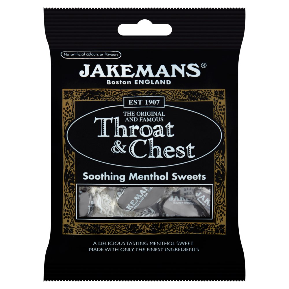 Jakemans Throat & Chest Soothing Menthol, 100g (Box of 10)