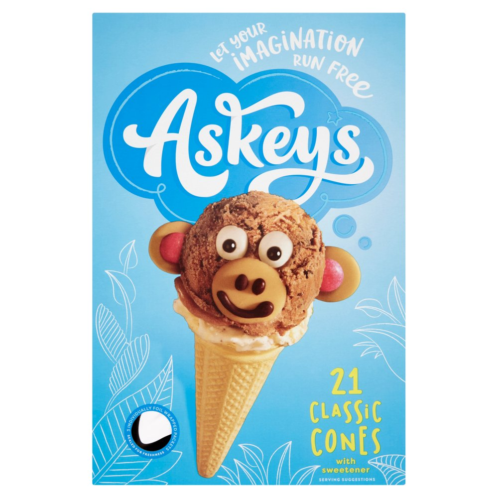 Askeys 21 Classic Cones with Sweetener
