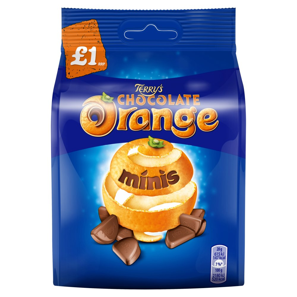 Terry's Chocolate Orange Minis Chocolate Bag, 95g (Box of 10)