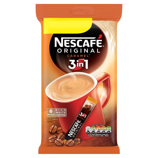 Nescafe Original 3in1 Caramel Instant Coffee, 6 Sachets x 17g,  (Box of 11)
