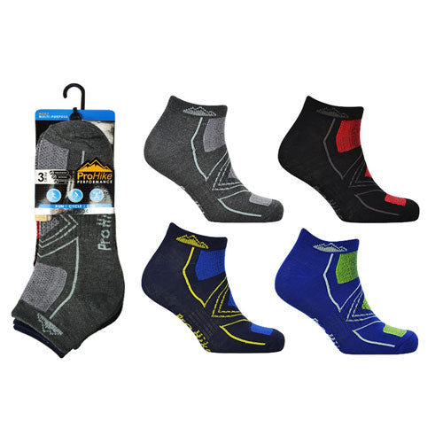 Mens ProHike Trainer Sock Top Block