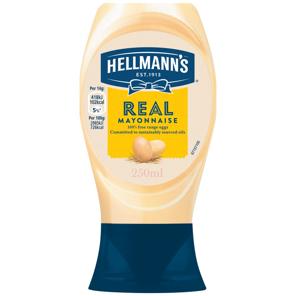Hellmann's Real Squeezy mayonnaise 250ml