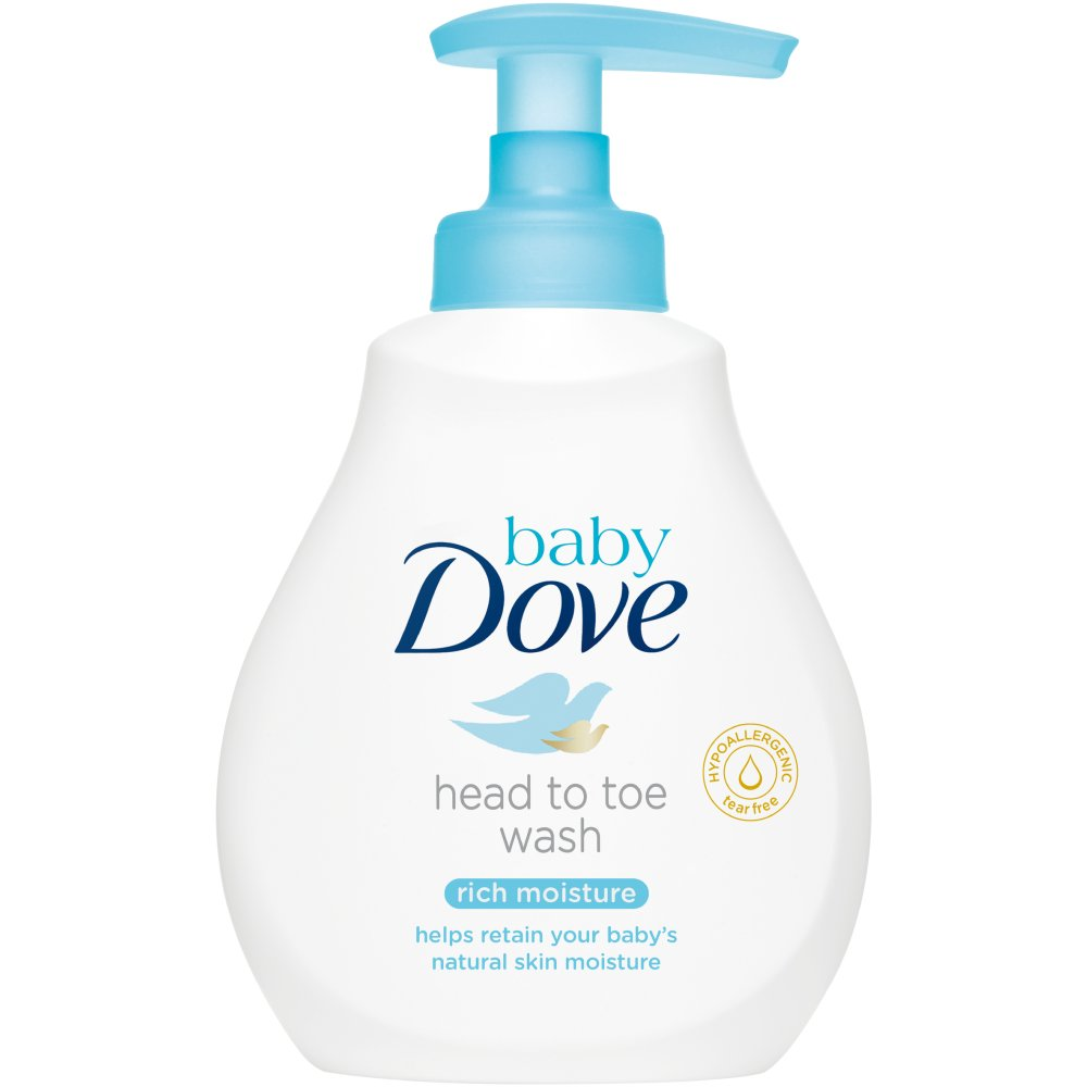 Baby Dove Rich Moisture Body Wash, 200ml (Case of 6)