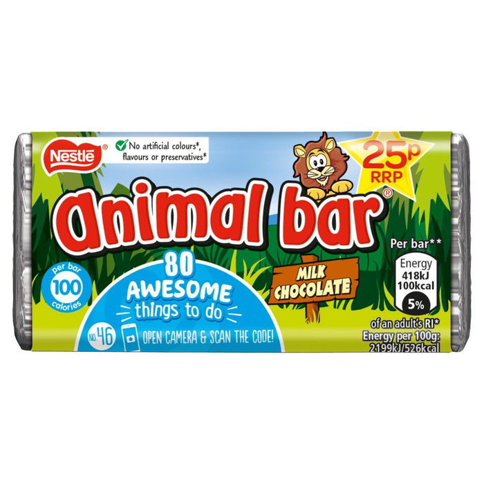Animal Bar Milk Chocolate