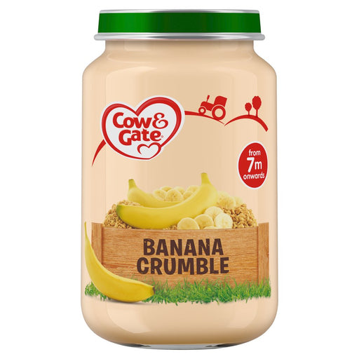 Cow & Gate Banana Crumble Jar, 200g (Case of 6)