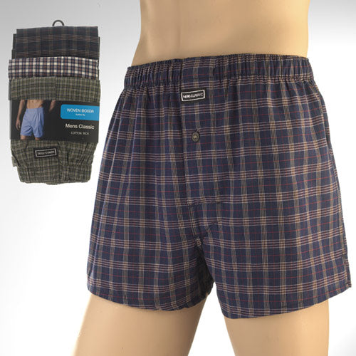 Mens Cotton Rich Woven Boxer (Pack of 3)