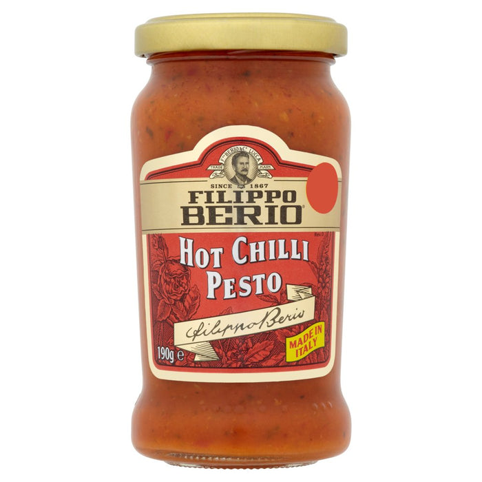 Filippo Berio Hot Chilli Pesto, 190g (Case of 6)