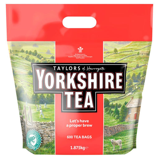 Yorkshire Tea Bags 600 (Pack of 4 Total 2400 Tea Bags 7.5kg)