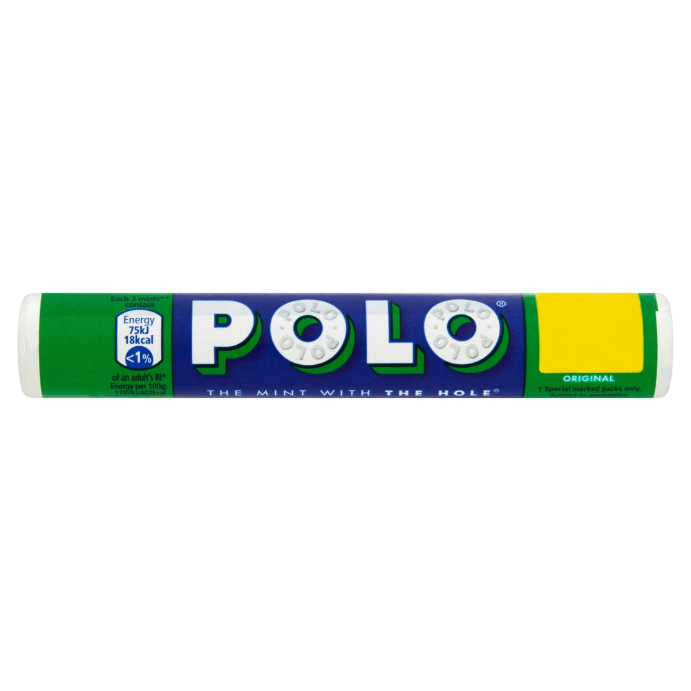 Polo Original Mint Tube, 34g (Box of 32)