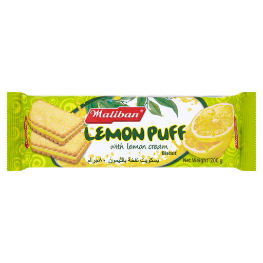 Maliban Lemon Puff with Lemon Cream Biscuit 200g (Box of 15)