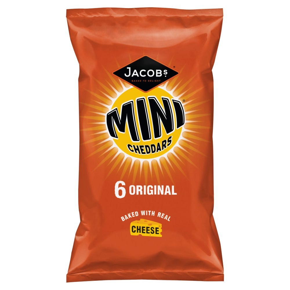 Jacob's Mini Cheddars 6 Original, (6x25g)