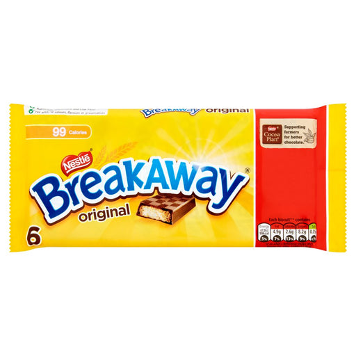 Breakaway Milk Chocolate Biscuit Bar 6 Pack