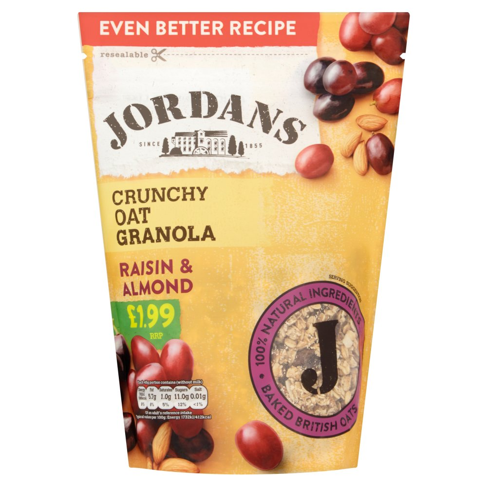 Jordans Crunchy Oat Granola Raisin & Almond, 450g (Case of 4)