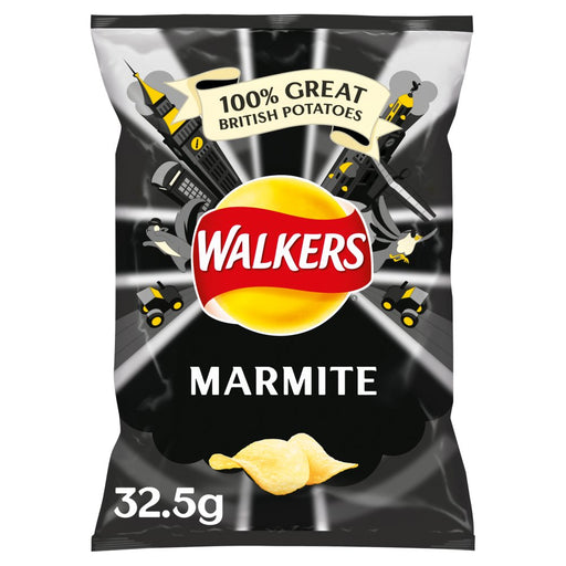 Walkers Marmite Crisps, 32.5g (Box of 32)