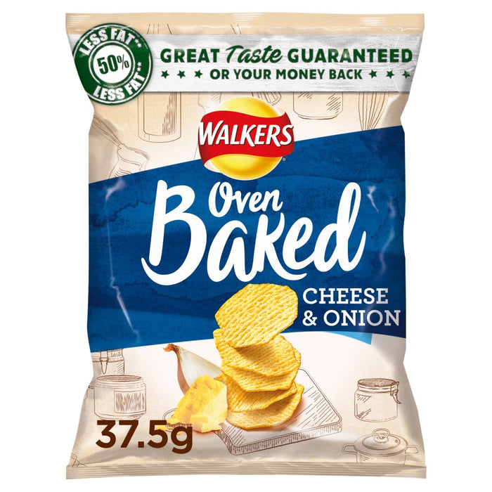 Walkers Baked Cheese & Onion, 37.5g (Box of 32)