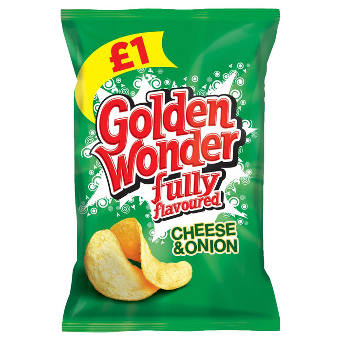 Golden Wonder Cheese & Onion, 100g (Box of 12)