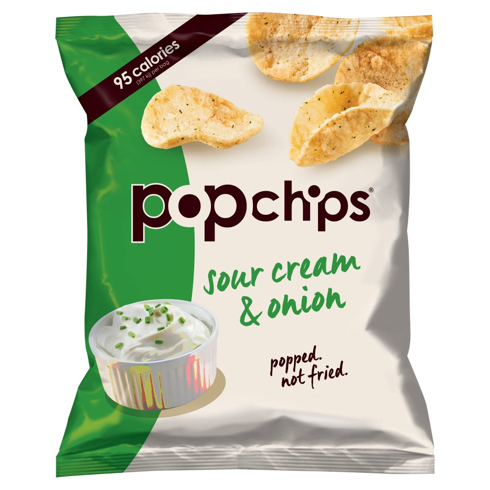 Pop Chips Sour Cream & Onion, 70g (Box of 12)