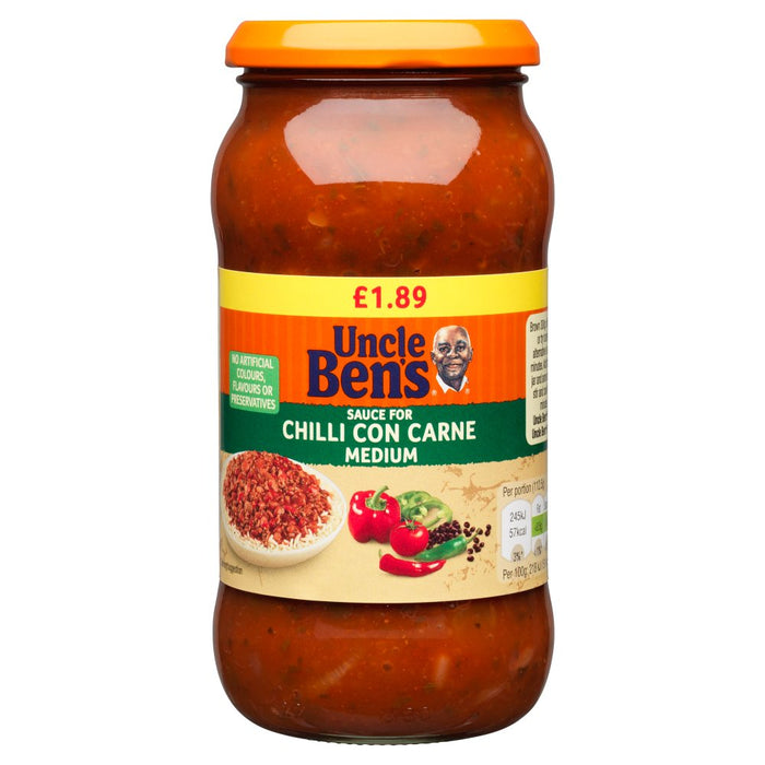 Uncle Bens Chilli Con Carne Sauce Medium