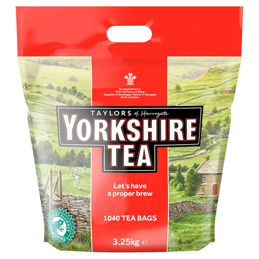 Yorkshire Tea 1040 Tea Bags (Pack of 2 Total 2080 Tea Bags)